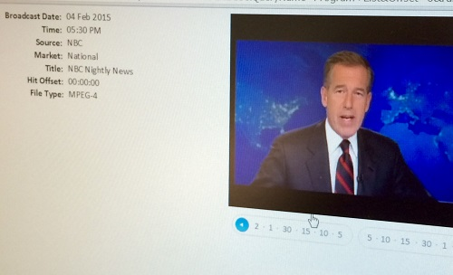 Universal Information Services analyzed the media accuracy related to Brian Williams