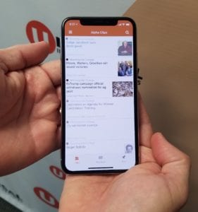 Universal Information Services iPhone X Alpha Clips mobile news monitoring