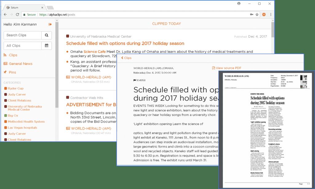 Alpha Clips Desktop Application Universal Information Services