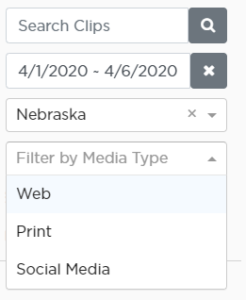 Alpha Clips Search and Filter Tools